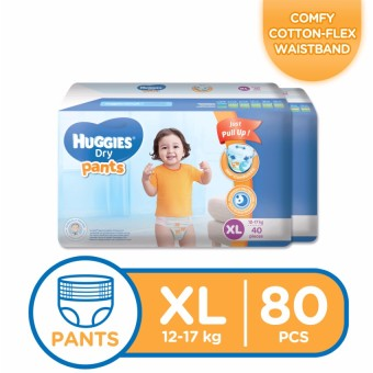Huggies Dry Pants XL - 40pcs x 2 packs (80 pcs)