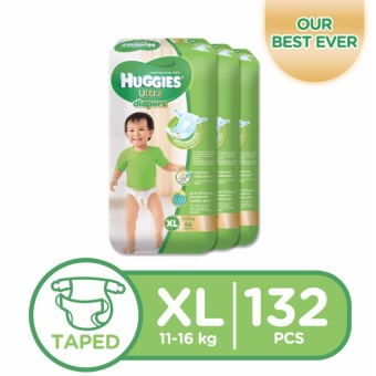 Huggies Ultra Diapers XL - 44 pcs x 3 packs (132 pcs)