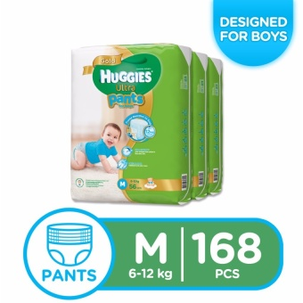 Huggies Ultra Pants Diaper for Boys Medium 56's Pack of 3