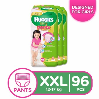 Huggies Ultra Pants for Girls XXL - 32 pcs x 3 packs (96 pcs) Price Philippines