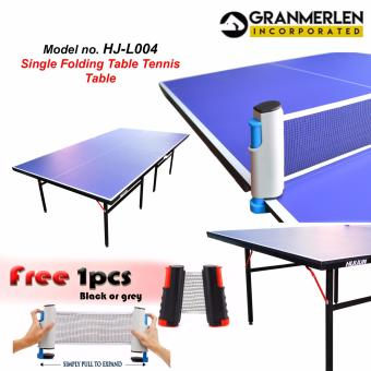 Huijun Sports Heavy Duty Table Tennis or Ping Pong Table SetHJ-L004 with FREE 1 Piece ping pong Net (Black or Grey)