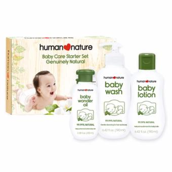 Human Nature Baby Care Starter Set- Baby Wash 190ml, Baby Lotion190ml and Baby Wonder Oil 100ml Price Philippines