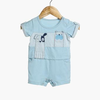 Hush Hush Baby Boys Dogs Romper (Blue) Price Philippines