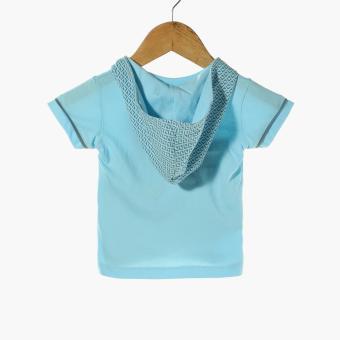 Hush Hush Baby Boys Knight or Day Hooded tee and Pajama Set (Blue) - 3