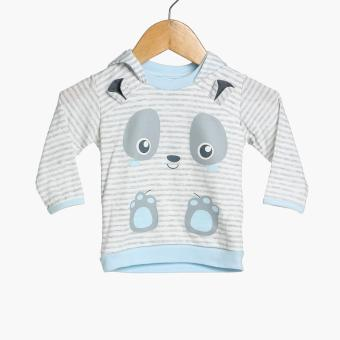 Hush Hush Baby Boys Panda Hoodie (Blue) Price Philippines