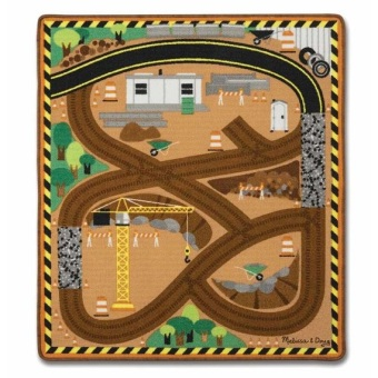 Harga Melissa and Doug Round The Construction Zone Work Site Rug