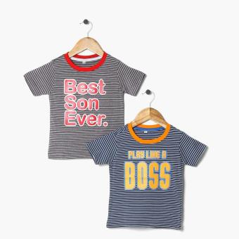 Harga jusTees Boys 2-Piece Boss Son Statement Tee Set (4T)