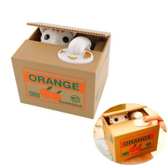 Harga Lovely Steal Money Cat Kitty Coins Piggy Bank Saving Box Money Box Xmas Gift - intl