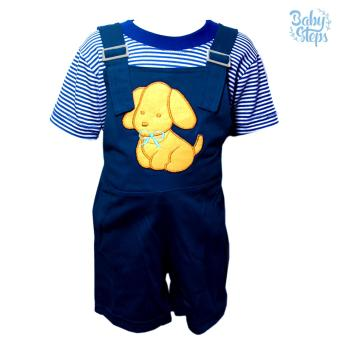 Baby Steps Doggie Baby Clothes Boy Baby Jumper (Navy) Price Philippines