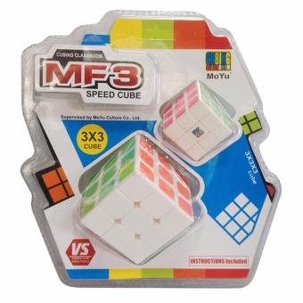 Harga MoFang Cubing Classroom MF3 3x3x3 Rubik's Cube Brain Teasers Speed Magic Cube Puzzles MF9340C White Stickerless with Mini 3x3 Magic Cube