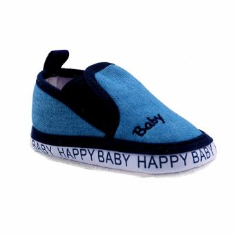 Harga BABY STEPS Happy Baby Boy Shoes (Blue)