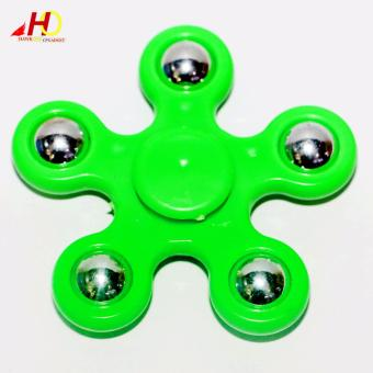 Harga NEW IDEAL Finger Spinner Fidget 5 Corner For Relieve Stress Anxiety Toys (Green)