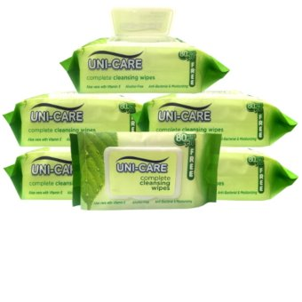 6 packs of 80+10sheets Uni-care Cleansing wipes Price Philippines