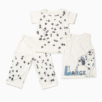 Nap Boys Small Large Pajama Set (Cream) Price Philippines