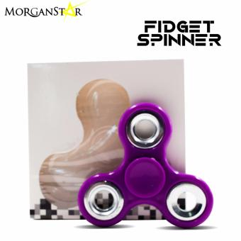 Morganstar Fidget Spinner Tri-spinner For Autism and ADHD Rotation Time Long Anti Stress Toys(Violet) Price Philippines
