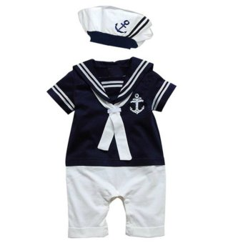 Harga Cool Elves Nautical Sailor Romper - Blue