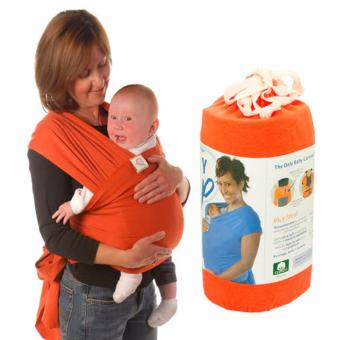 Eco Cub Moby Baby Wrap Carrier for Comfortable Baby Wearing (Orange) Price Philippines