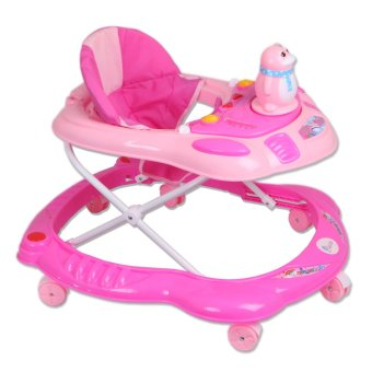 Harga Cutie First Steps Penguin Baby Walker with Safety Bump Guard and sounds and lights (Pink)