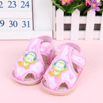 Harga Fisher-price Little monkey pattern shoes pink