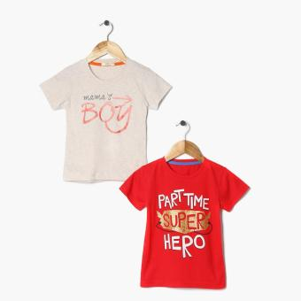 Harga jusTees Boys 2-Piece Superhero Mama's Boy Statement Tee Set (2T)