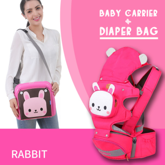 Mambobaby Cartoon 4-in-1 Baby Carrier with Hip Seat & Diaper bag Set(rabbit) - intl Price Philippines