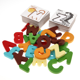NEW Wooden Letter Digital Card Kid Educational Toys Kids Toys( Letter) Price Philippines