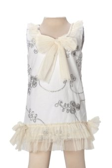Baby Fashionista Dress with Tulle Detail (White/Cream) Price Philippines