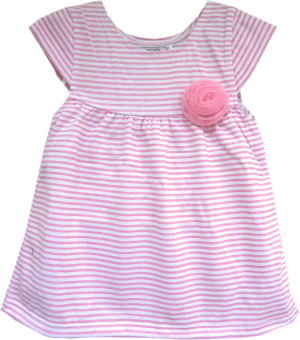 Kid Basix Dress w/Pink Stripes & Flower Detail (Pink) Price Philippines
