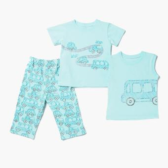Nap Boys Car Pajama Set (Turquoise) Price Philippines