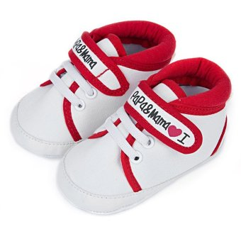 Cute Letter Print Soft Sole Canvas Toddler Shoes for Infant Babies Price Philippines