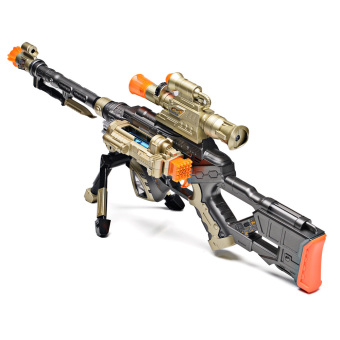 Harga E&E DF-18218B Snow Panther Electric Cap Pistol Acousto-optic Simulation Sniper Rifle