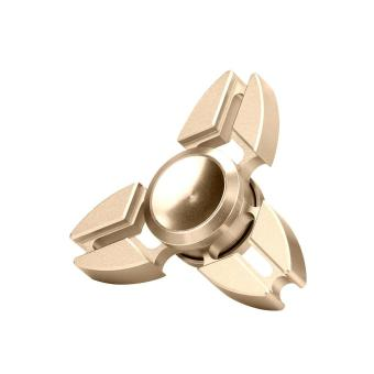 Harga Tri Fidget Hand Spinner Triangle Alloy Finger Toy EDC Focus ADHD Autism (Gold)