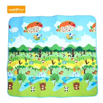 Harga 200 x 180CM Forest Paradise Printed Baby Play Mat for Present