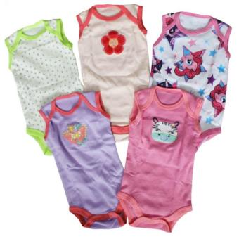 Tickle 5Pcs Assorted Color/Design Babies Bodysuits for 3 Months Baby Girl Price Philippines