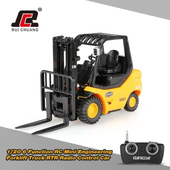 Original RUICHUANG 1/20 6 Function RC Mini Engineering Forklift Truck RTR Radio Control Car - intl Price Philippines