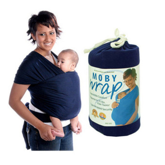Moby Wrap Original 100% Cotton Infant Baby Carrier Breastfeed SlingNavy - intl Price Philippines