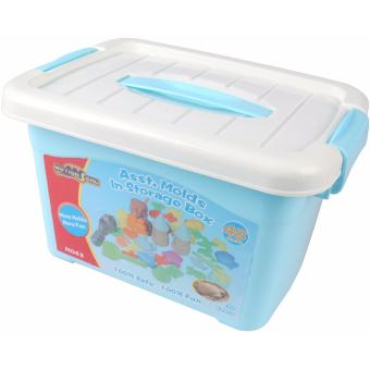 Harga Motion Sand 48 pieces. Assorted Molds In Storage Box