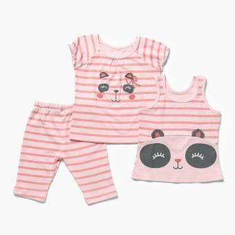 Nap Girls Panda Pajama Set (Peach) Price Philippines
