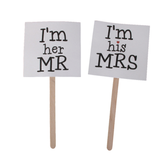 Mr and Mrs Cake Topper Sticks Wedding Cake Topper Funny Mrs Mr Photo Props Price Philippines