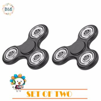 Harga SET OF TWO D&D Hand Spinner Tri-Spinner Fidget Toys For Adults Kids Anti Stress Gyroscope Spinning Top Magic Finger Toys Educational Tools
