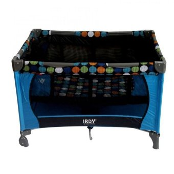 Toy Collections IRDY P508 Playpen Crib with Mosquito Net (Blue) Price Philippines
