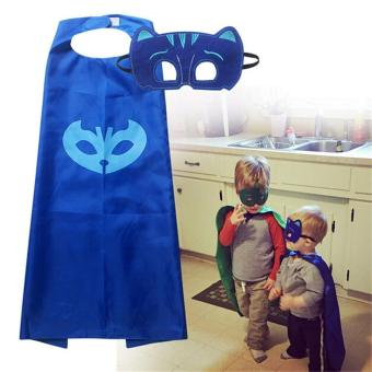 LALANG Children Masks Role-play Cloak Cape and Mask Catboy Cosplay Action Toys (Blue) - intl Price Philippines