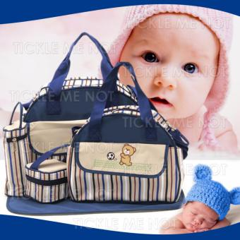 Tickle TMN-130 5-in-1 Multi function Baby Travel Diaper Tote Bag(blue) Price Philippines
