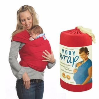 Eco Cub Moby Baby Wrap Carrier for Comfortable Baby Wearing (Red) Price Philippines