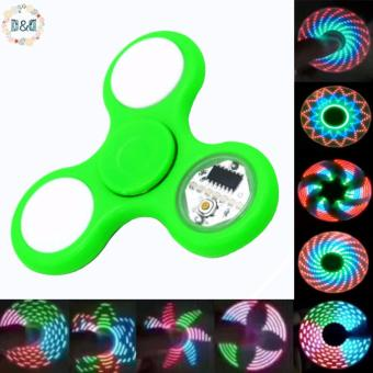 Harga D&D Cool LED Fidget Spinner with Digital Display Amazing Patterns Change Automatically