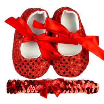 Baby Shoes and Headband in Set (Red) Price Philippines