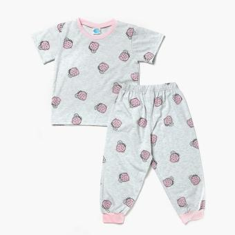 Nap Girls Strawberries Tee and Pajama Set (Gray) Price Philippines