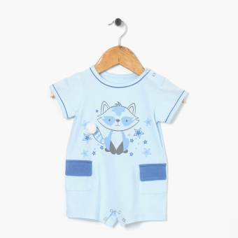 Hush Hush Boys Cool Racoon Romper (Blue) Price Philippines