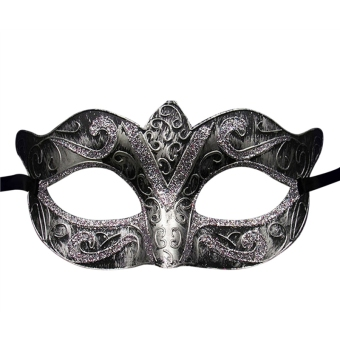 Unisex Vintage Venice Halloween Costume Masquerade Masks Half Face Mask(Bronze and Silver) Price Philippines
