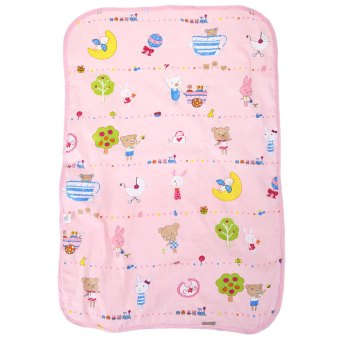 Babies Portable Waterproof Nappy Pad Cartoon Print Urine Mat(Pink) Price Philippines